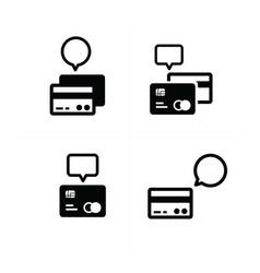 Credit card bubble icon vector