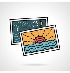 Flat style icon for vacations memories vector image