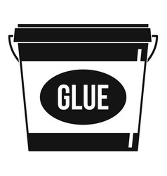glue icon simple style vector image