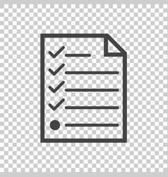 hecklist icon flat vector image vector image