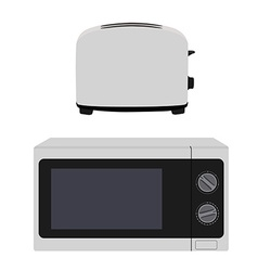 Microeave and toaster vector image vector image