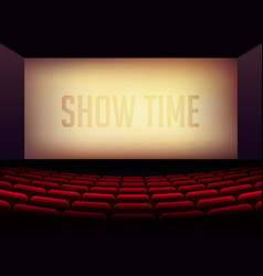Movie cinema or theater hall for film premier vector