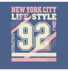 New York City t-shirt vector image vector image