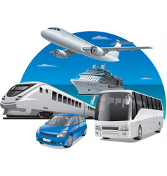 transports for travel vector image