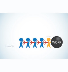 businessmen with wind-up key and work ball vector image