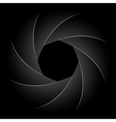 camera shutter vector image vector image