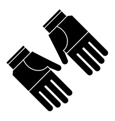 gardening gloves protection pictogram vector image