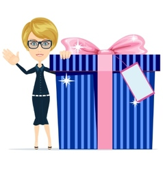 Girl with a great gift vector image vector image