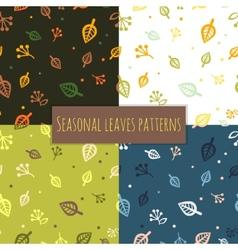 Leaves pattern 4 seasons vector image