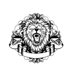lion with patterns vector image