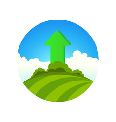 planting of greenery vector image