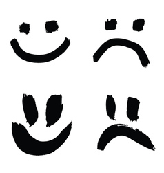 smiles of joy and sorrow vector image