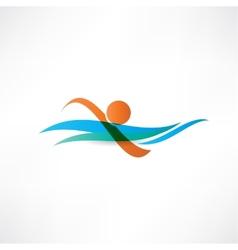 sportsmen swimming icon vector image