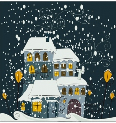 winter scene vector image