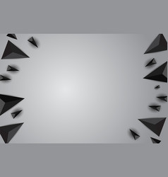 abstract background with black realistic vector image