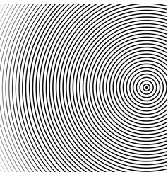 Abstract concentric circles texture in black and vector