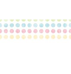 Abstract textile polka dots stripes horizontal vector image vector image