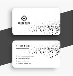 Abstract white business card with particles vector
