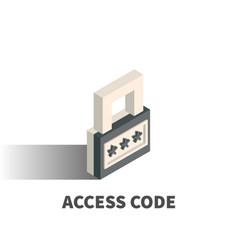 access code icon symbol vector image