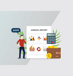 annual report concept with people give vector image