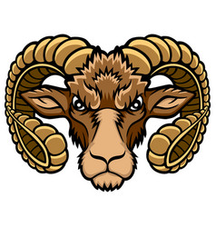 Aries head logo vector