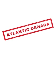 Atlantic Canada Rubber Stamp vector