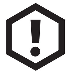 attention icon black vector image
