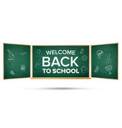 back to school banner green classroom vector image