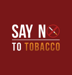 Background say no tobacco day vector