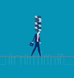 balance books on head concept business education vector image