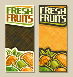 Banners for fresh fruits vector