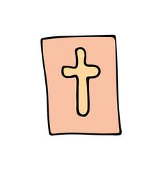 bible cartoon hand drawn icon vector image