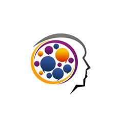 Brain think process vector