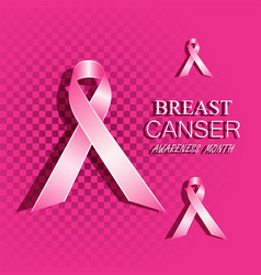 breast cancer awareness pink ribbons vector image
