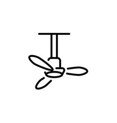 ceiling fan icon in logotype vector image