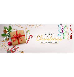 christmas decoration composition vector image