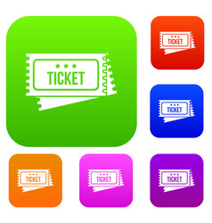 circus show tickets set collection vector image