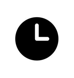 clock icon time symbol vector image