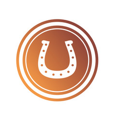 coin with horseshoe icon vector image