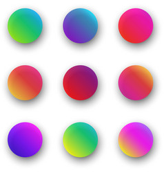 colorful round icon templates isolated on white vector image
