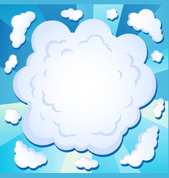 Comics cloud theme image 1 vector