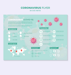 corona virus flyer education template infographic vector image