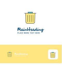 creative trash logo design flat color logo place vector image