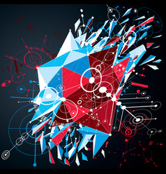 Digital technology background made with geometric vector