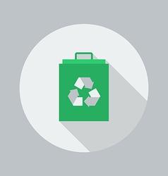 Eco Flat Icon Eco Bag vector image