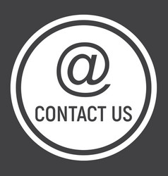 email address solid icon contact us and website vector image