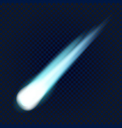 flying comet icon realistic style vector image