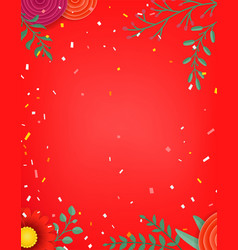 Frame with color flowers copy space for a text vector