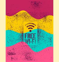 Free wi-fi vintage stencil spray grunge poster vector