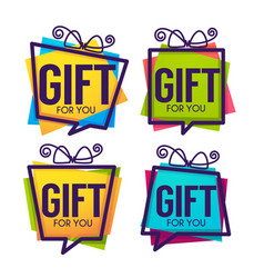 Gift for you abstract present box for your vector